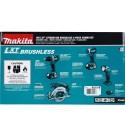 Makita XT446T 18V LXT Lithium-Ion Brushless Cordless Combo Kit (4 Piece)