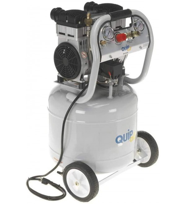Quipall 10-2-SIL 2 HP 10 Gallon Oil-Free Portable Air Compressor